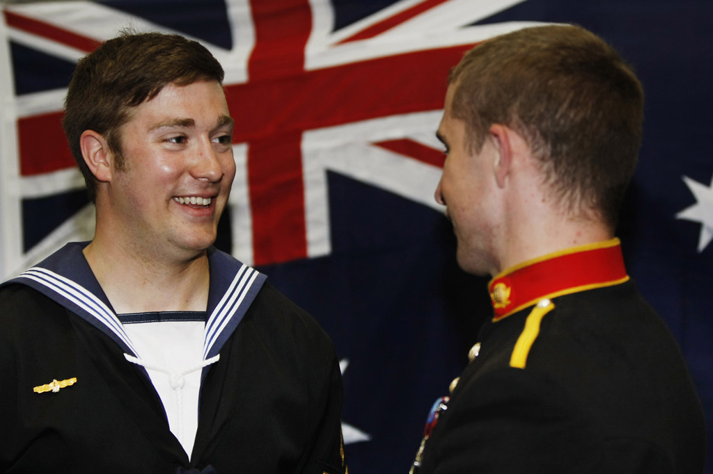 Royal Marines musicians strike the perfect note Down Under