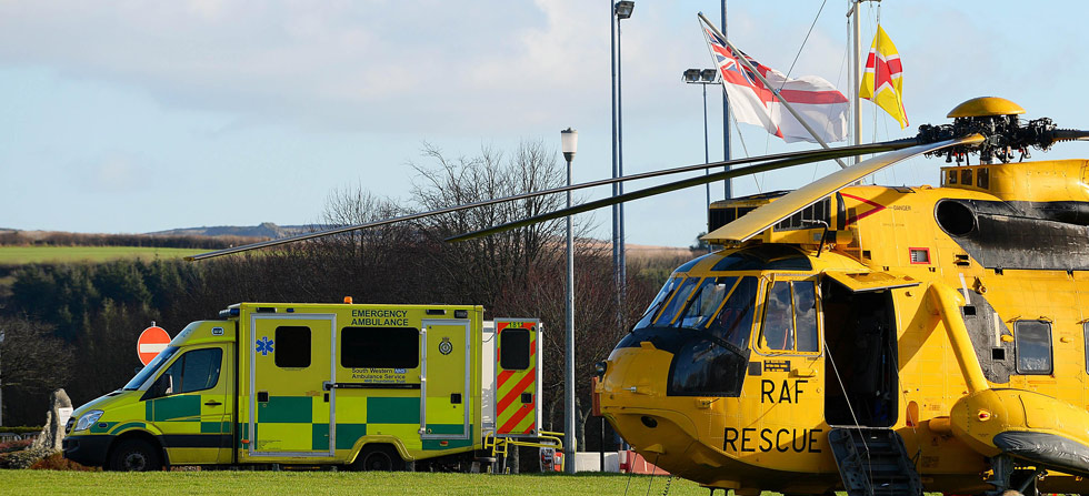 Royal Marines, RAF and NHS in rescue partnership
