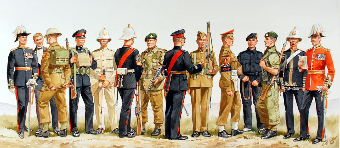 Royal Marines uniforms through the ages