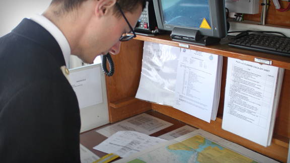 Navigation on board HMS Biter