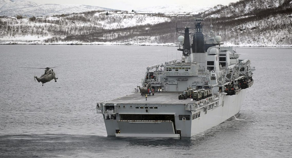 HMS Bulwark in Exercise Cold Response
