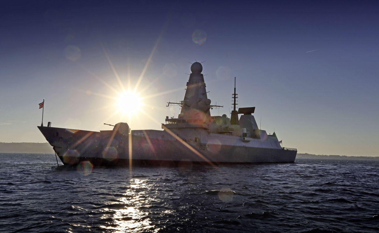 HMS Daring renews friendships with Guernsey