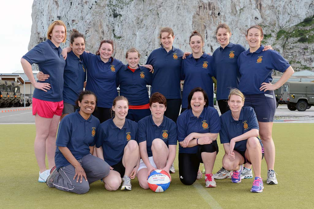 HMS Dragon's Netball team