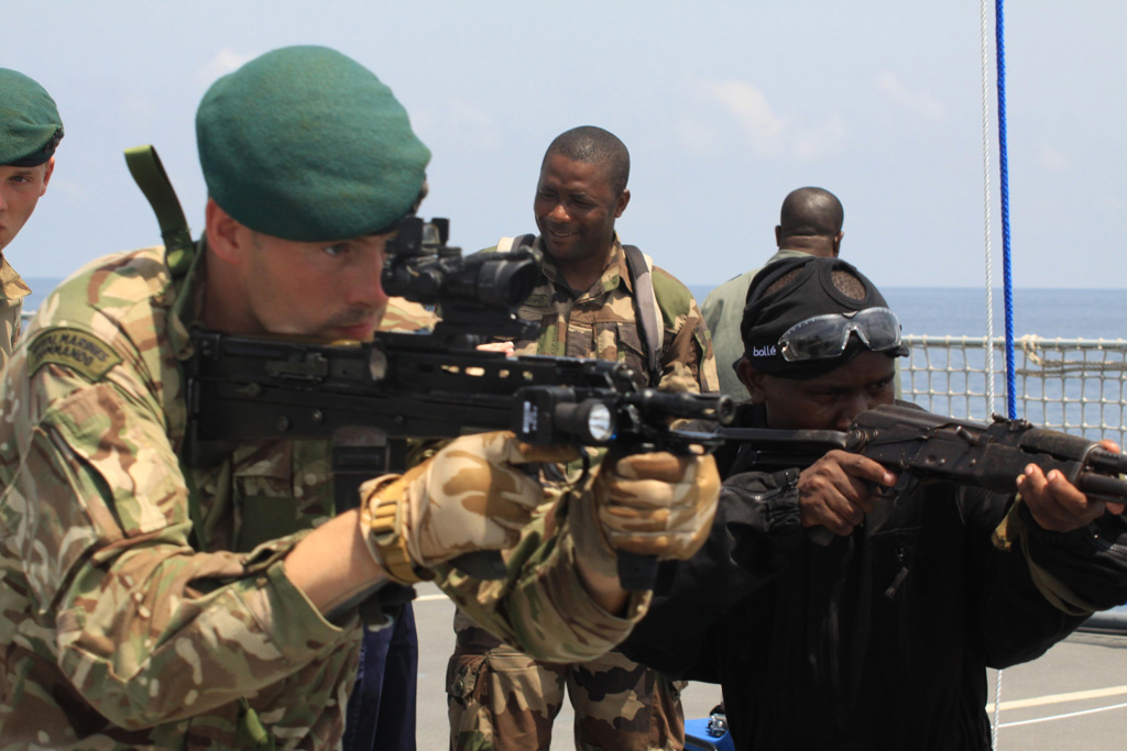 Royal Navy ships take part in African exercise