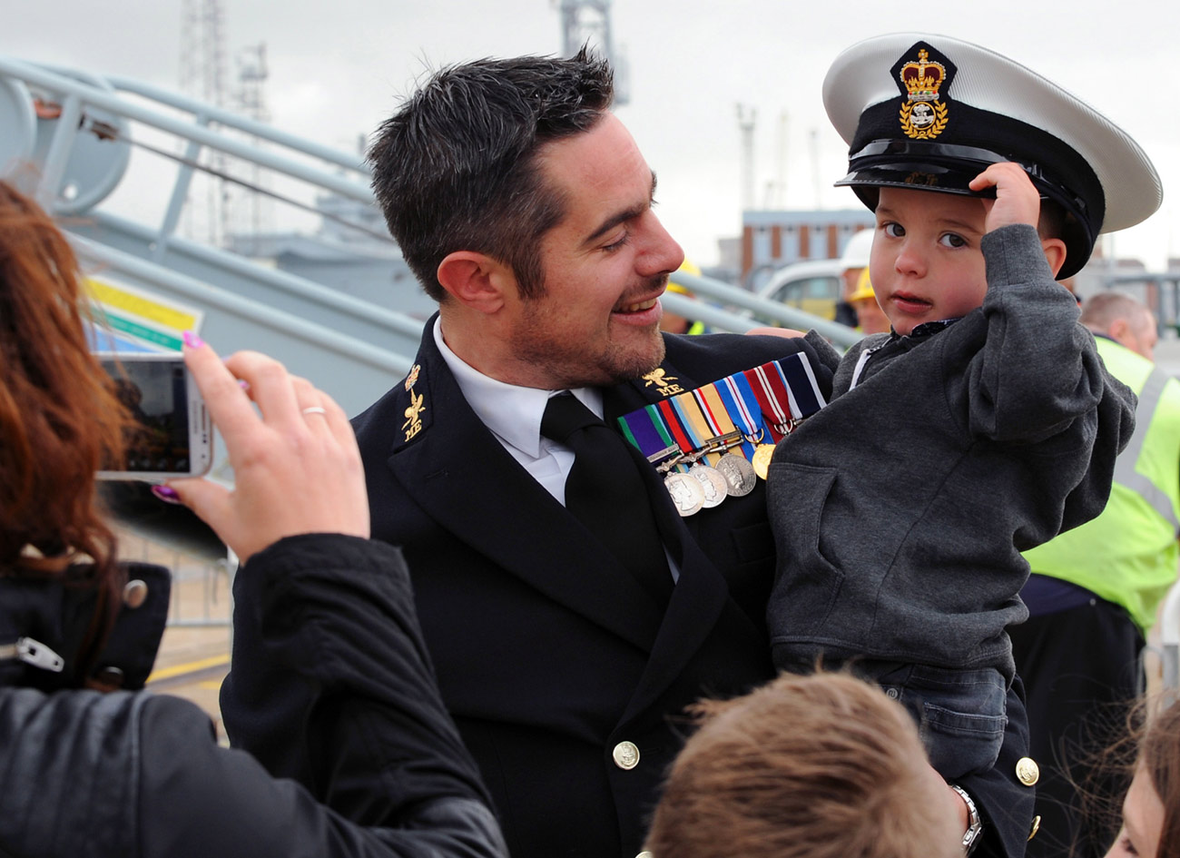 HMS Dragon comes home