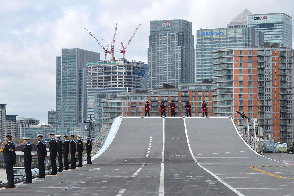 Royal Navy warships descend on capital for commemorations