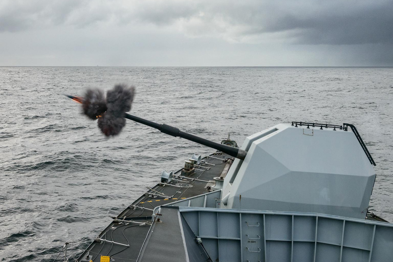 Warship concludes bi-annual exercise with a bang