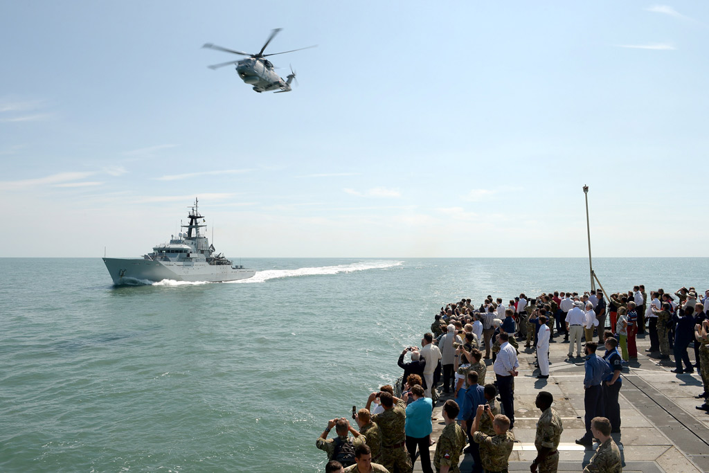 HMS Lancaster friends and families day at sea