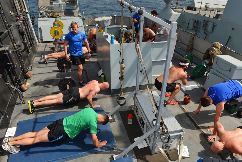 HMS Monmouth keeps Functionally Fit during 7 month Deployment