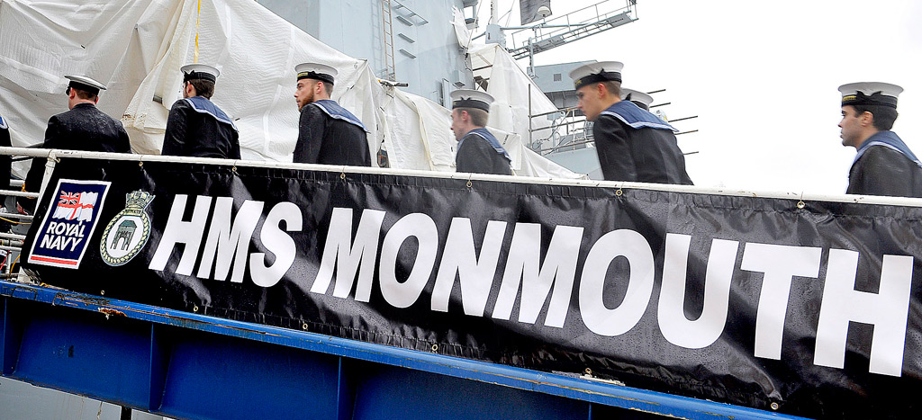 HMS Monmouth crew return to ship