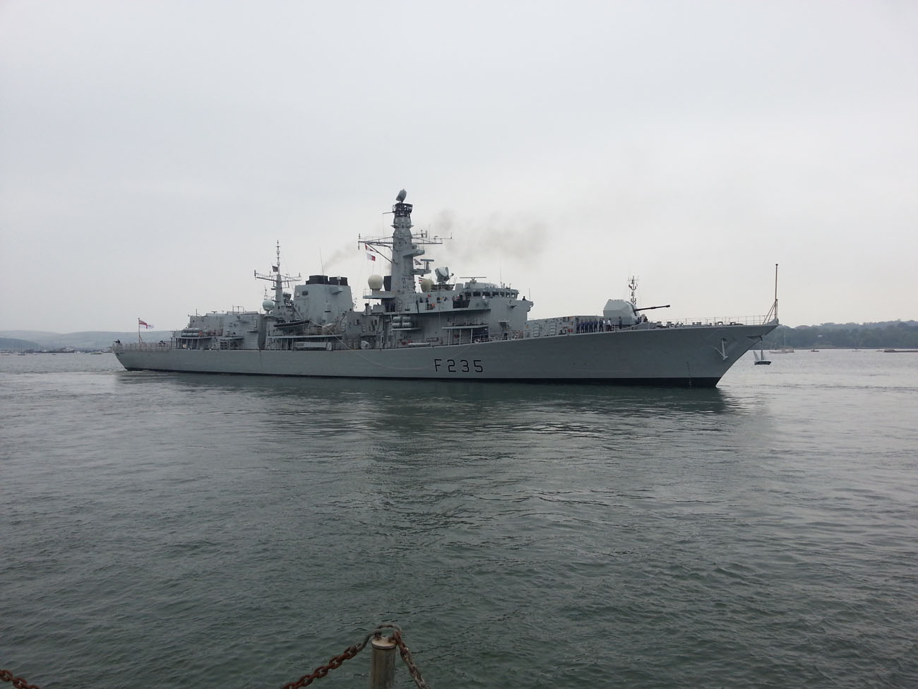 HMS Monmouth sails again