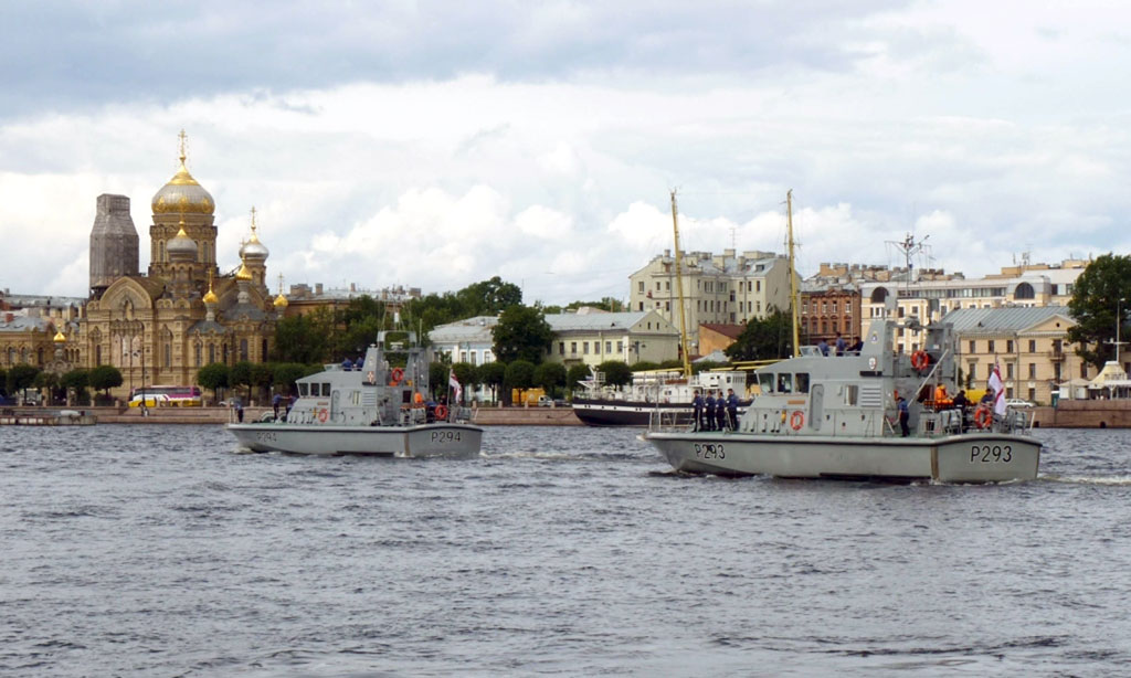 P2000 visiting St Petersburg