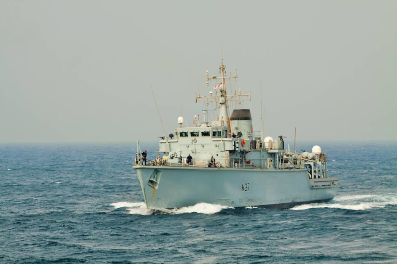 Minehunters conduct training in the Gulf