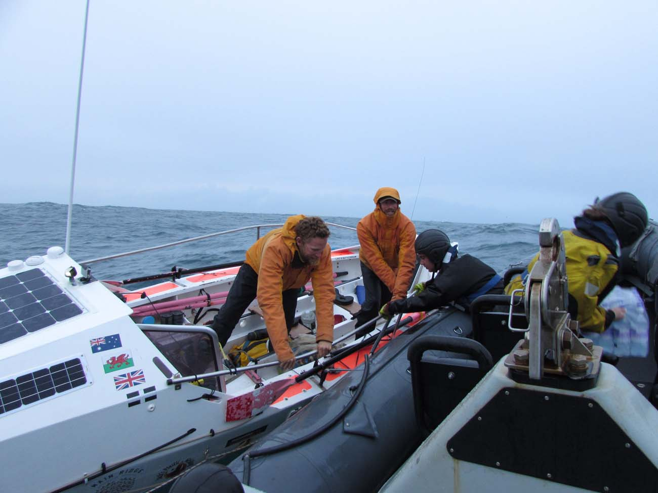 Royal Navy aids transatlantic rowers miles from final destination