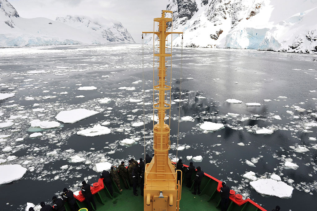 HMS Protector at Deception Island