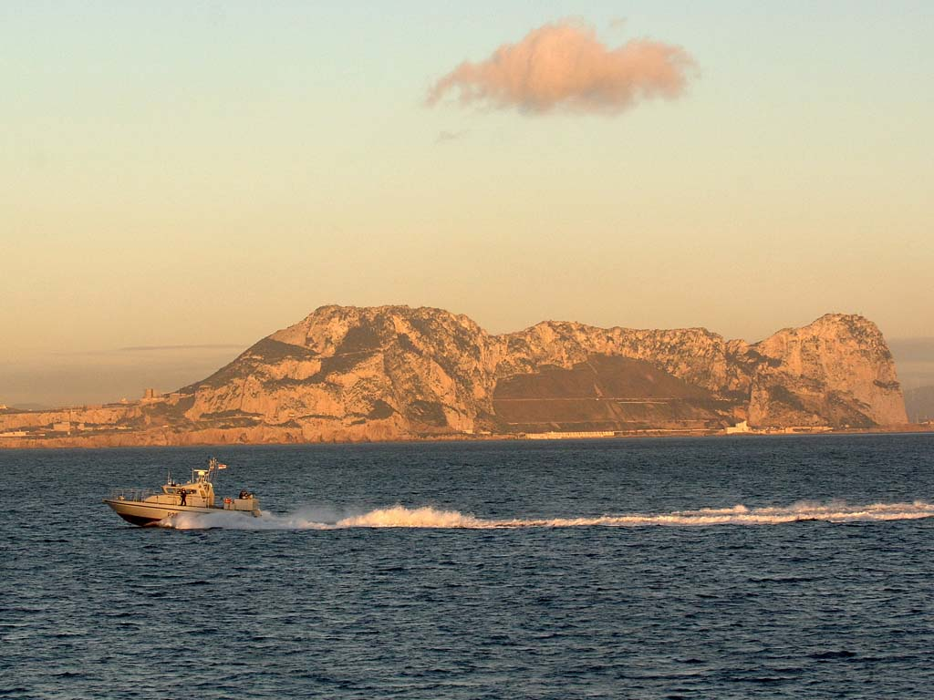 HMS Sabre operating off Gibraltar