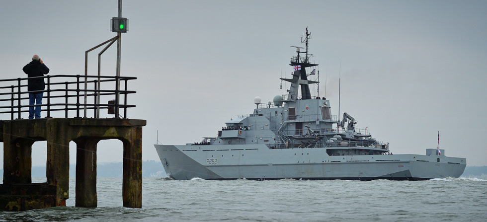 HMS Severn deploys