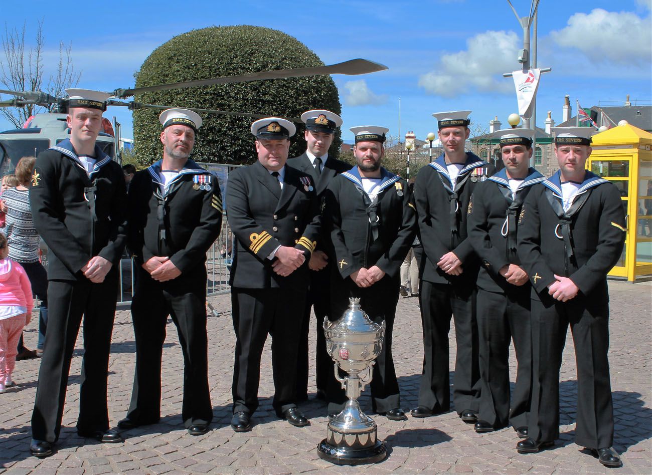 HMS Severn supports the Jersey Boat Show.