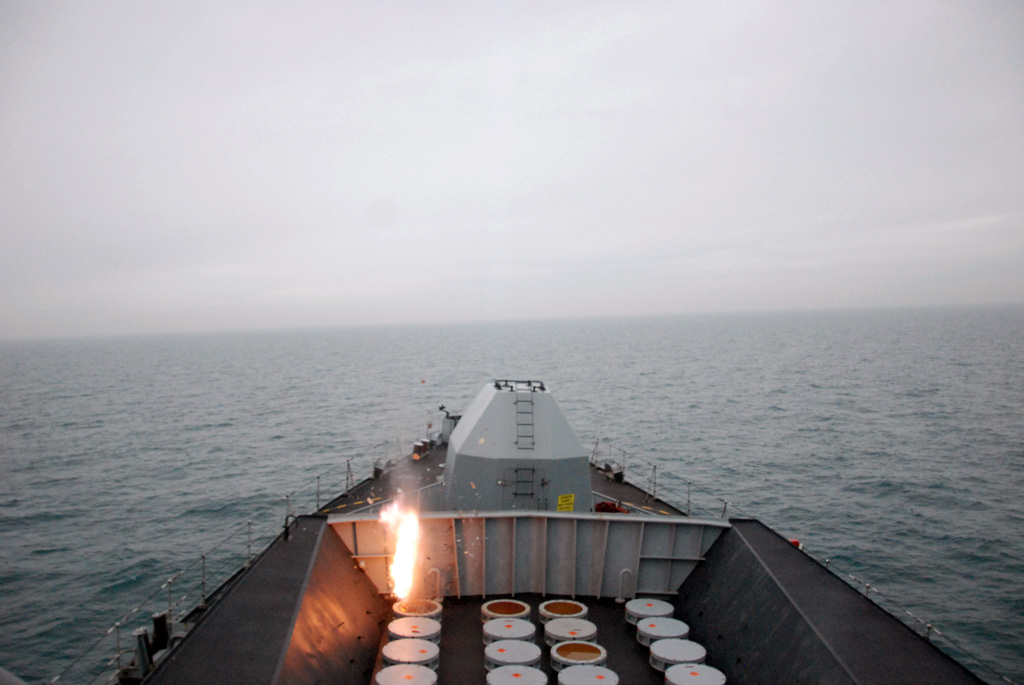 HMS Westminster Seawolf Firing Tests