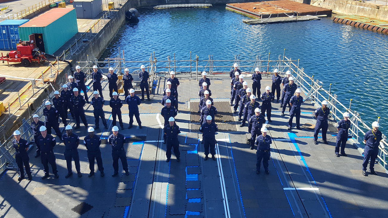 Capital ship stands up for The Queen's Official 90th birthday