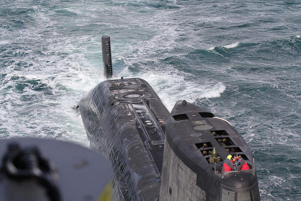 First time stores transfer at sea for Astute-class submarine
