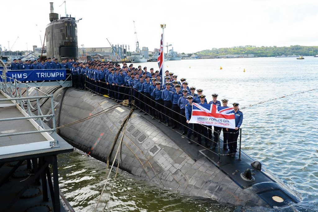 Armed Forces Day Triumph as submariners show their support