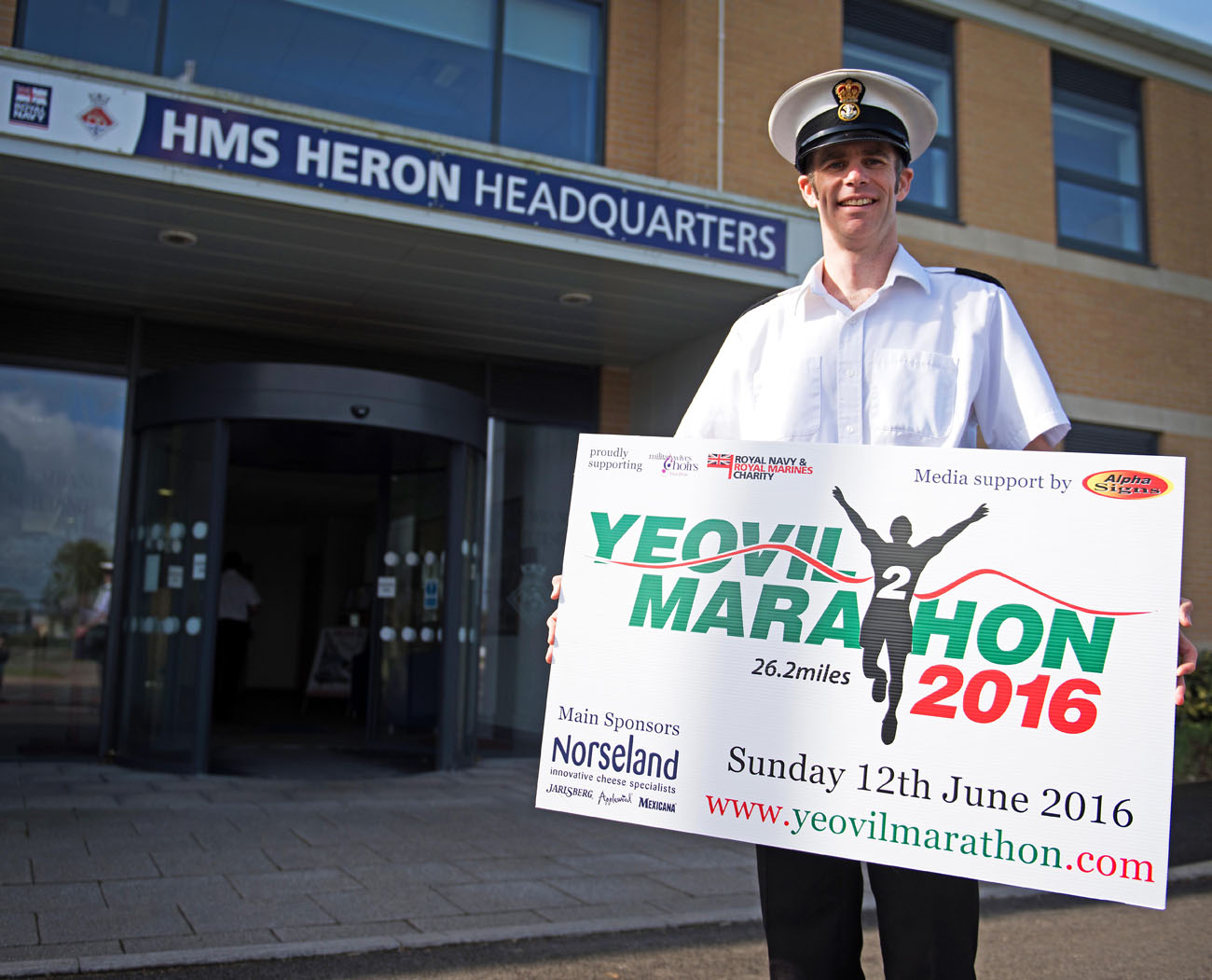 Petty Officers running battle with PTSD leads to Yeovil marathon