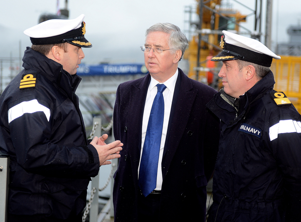 Defence Minister Michael Fallon visits HMNB Clyde