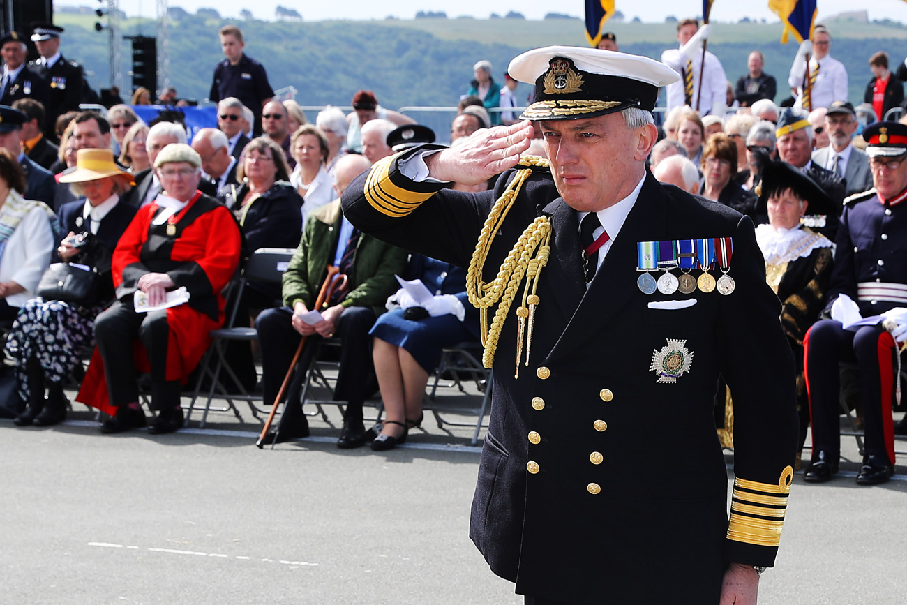 Head of Royal Navy praises Plymouth for their support