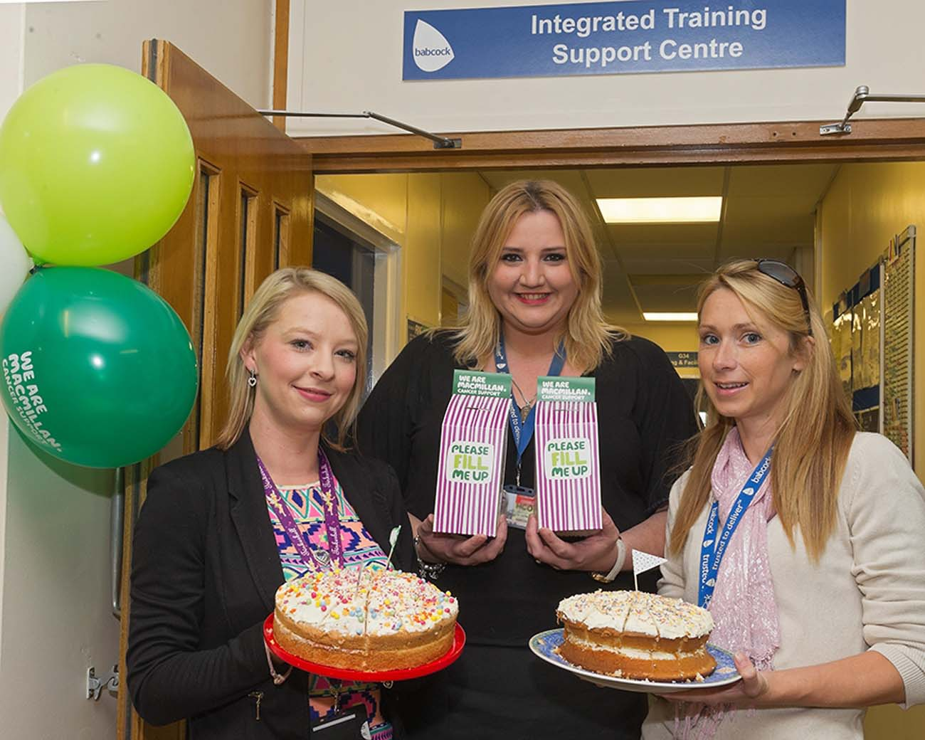 HMS Collingwood get baking for Macmillan