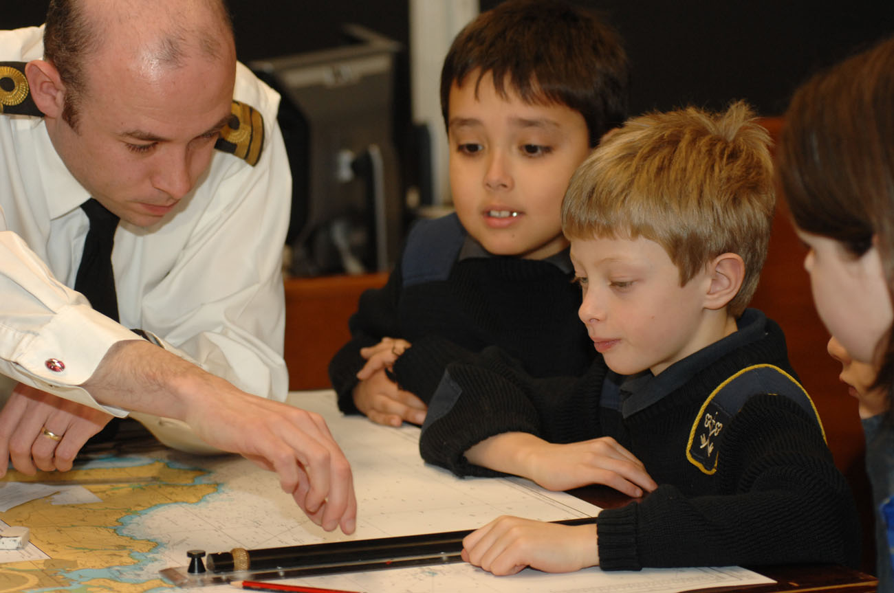 Naval lessons for Exeter pupils