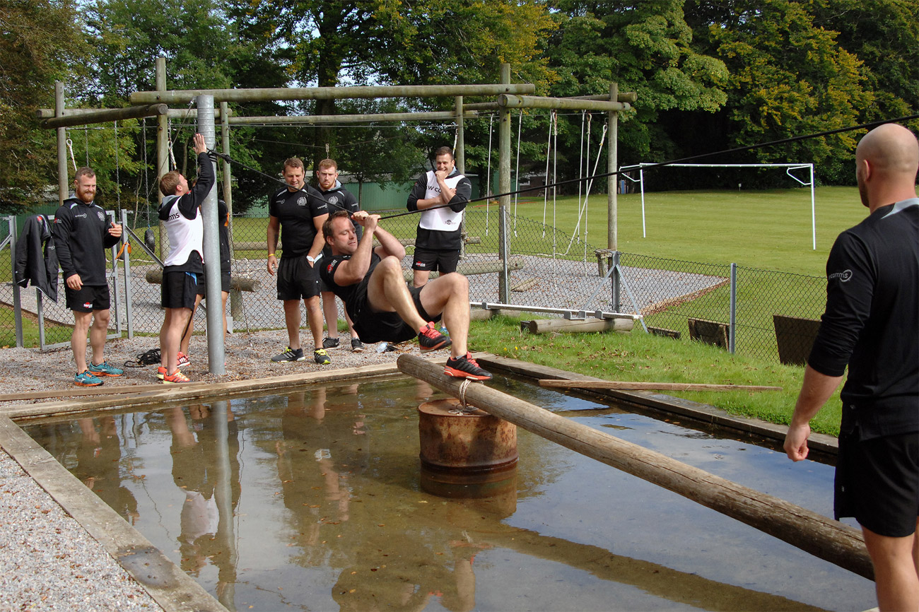 Exeter Chiefs try out Navy training